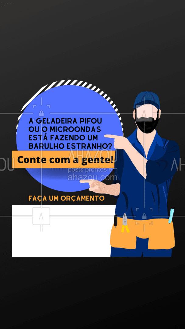 Nossa equipe está pronta para te atender! #AhazouTec   #eletros #consertodeeletronicos #consertoeletrodomesticos #assistenciatecnica