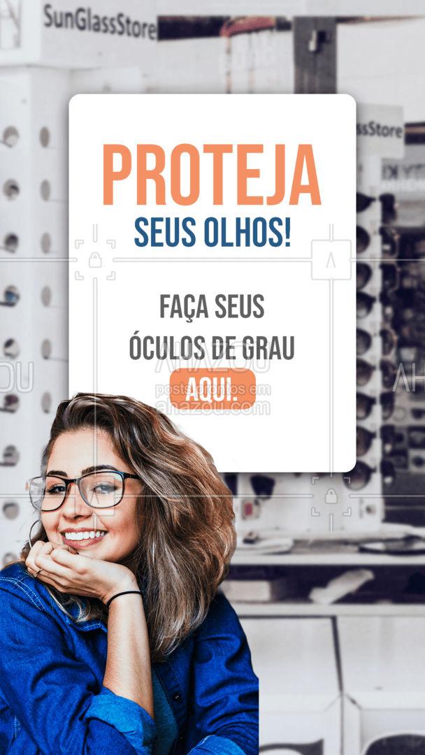 Aqui você encontra modelos de óculos de grau das melhores marcas e com lentes para a sua necessidade! Venha conferir! #AhazouÓticas  #otica  #oticas  #oculos  #oculosdegrau