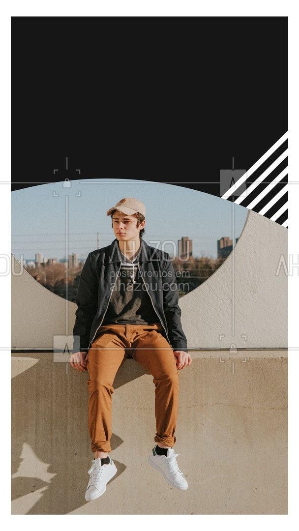 Essa peça versátil não pode faltar em meio as roupas masculinas de inverno. Justamente por ser versátil e deixar qualquer look mais arrojado e repleto de estilo. ?? #AhazouFashion #modaparahomens #modamasculina #dicasdemoda #dicasdeinverno #fashion #style