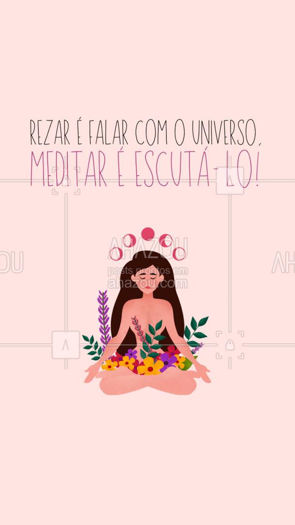 Invista em você com mais frequência, medite! O universo tem muito a te dizer! #AhazouSaude  #meditation #yogalife #yoga #yogainspiration #frases #motivacional #meditar #universo