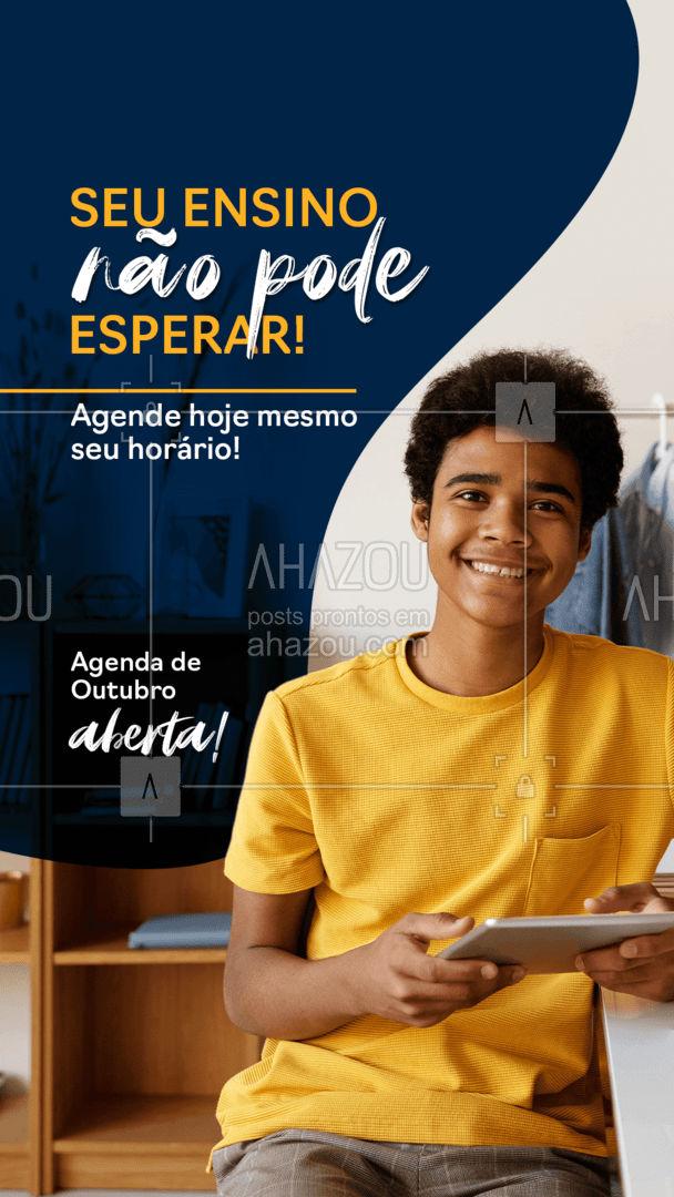 Reserve suas aulas em nossa agenda de Outubro. 📚📅 #educação #aulaparticular #professorparticular #concursopúblico #cursinho #agendadeoutubro #AhazouEdu