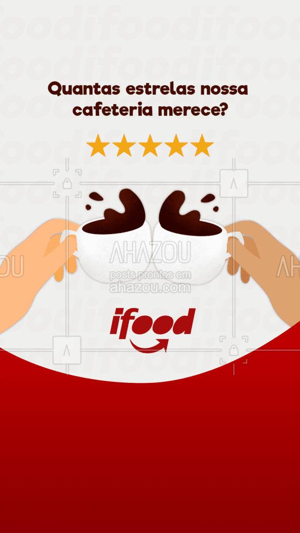 Fala pra gente o que você achou do seu pedido!☕? #avaliação #ifood #food #café #delivery #ahazoutaste #cafeteria #coffee #ahazoutaste