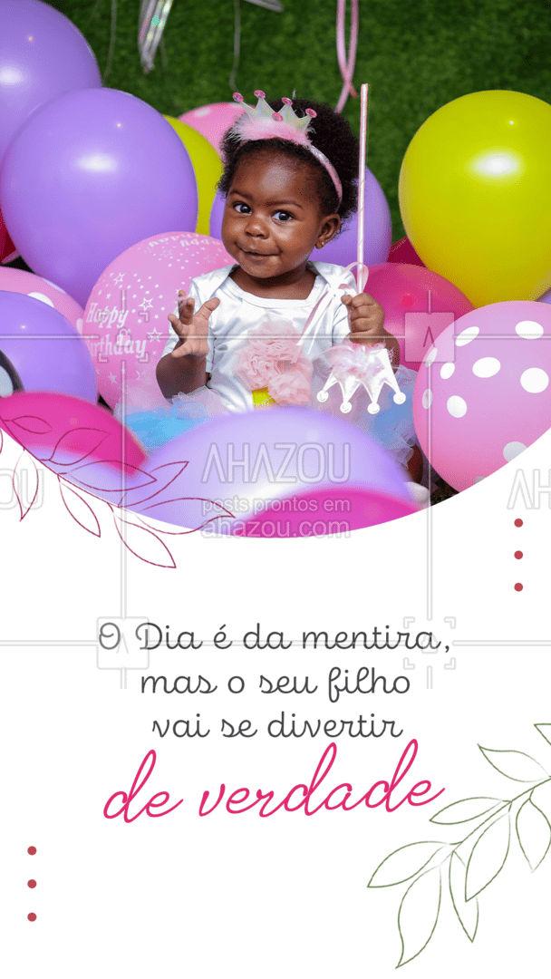 Pode até ser o Dia da Mentira, mas a diversão do seu filho é verdadeira! #buffetinfantil #catering #eventos #ahazoutaste #foodie #buffet #casamento #diadamentira