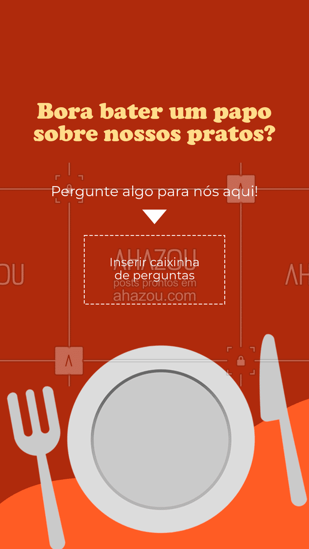 Sobre o que você quer falar? Manda que eu te escuto ? #ahazoutaste #instafood #gastronomy #foodie #gastronomia #foodlover #culinaria #ahazoutaste #caixadeperguntas #caixinhadeperguntas