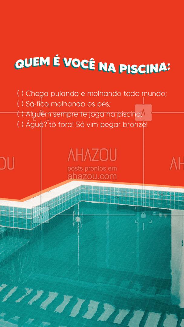 Ou você é o que bebe tanto que mal lembra o que aconteceu? ???? #enquetes #humor #modapraia #AhazouFashion #piscina #moda