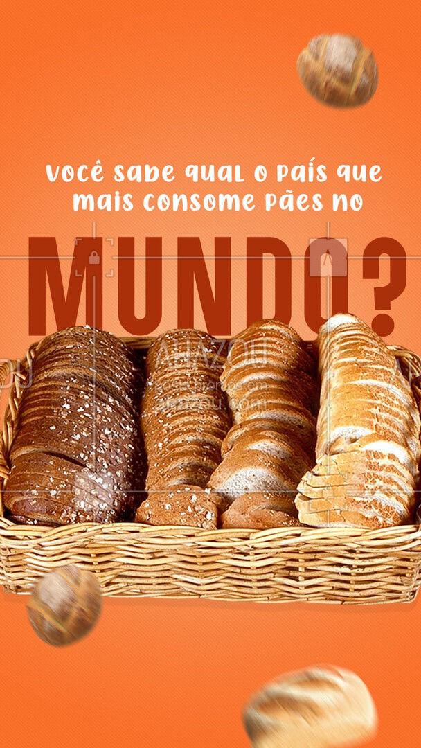O país que mais consome pão no mundo é a Rússia, com a incrível marca de 120 quilos de pão por pessoa,por ano! Dá uma média de 10 kg de pão por mês. ? #ahazoutaste  #padaria #pãoquentinho #padariaartesanal #cafedamanha #panificadora #bakery #confeitaria