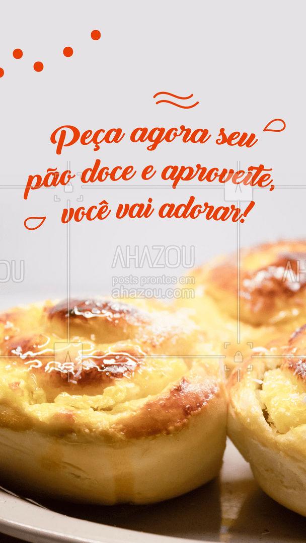 Um pão doce combina muito com um bom café da manhã ou da tarde, aproveite para pedir o seu! 🍰 #ahazoutaste  #padaria #pãoquentinho #padariaartesanal #panificadora #bakery #confeitaria #sobremesas