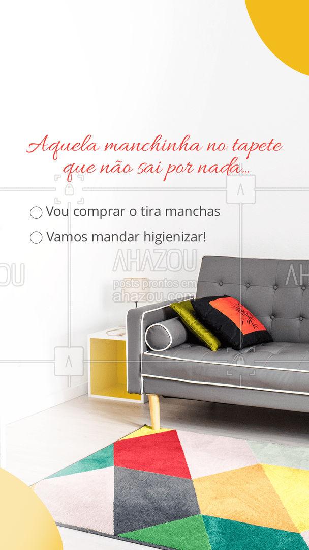 Quem é você nessa luta? Conta pra gente! ? #AhazouServiços #higienização #limpeza #tapete #enquete