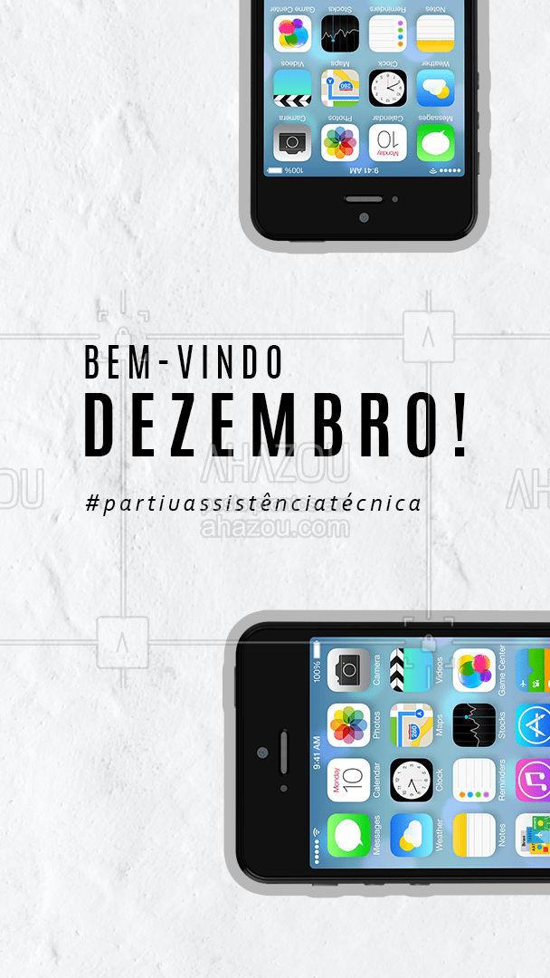 Que dezembro venha cheio de esperança, paz e os eletrônicos/eletrodomésticos funcionem perfeitamente. Caso não estejam, corra pra assistência. #motivacional #bemvindo #AhazouTec #dezembro #assistencia #AhazouTec #AhazouTec