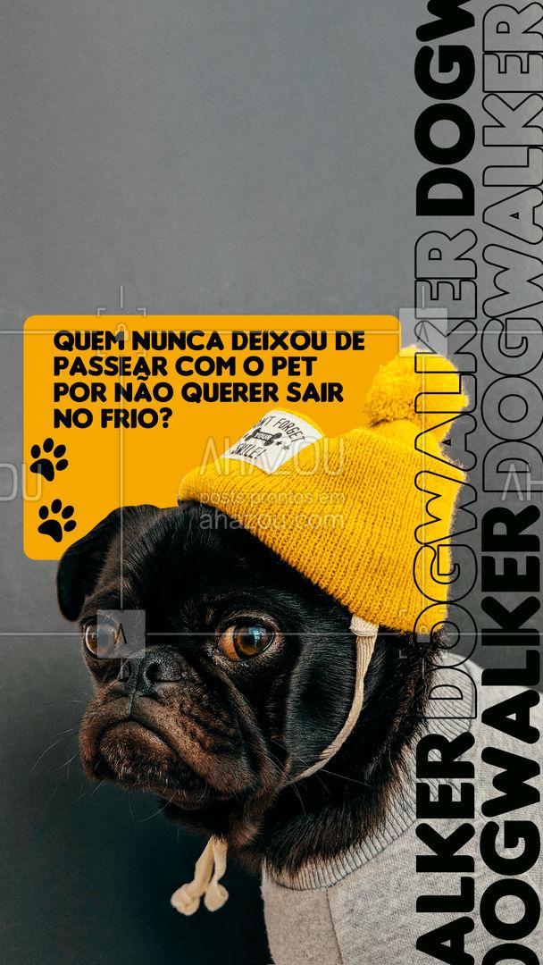 Pra essas ocasiões existem os dogwalkers, profissionais empenhados em passear com cachorros mantendo a integridade e suprindo as necessidades dos bichinhos ?? Não deixe seu melhor amigo sem esse momento essencial, contrate nossos serviços! #AhazouPet #pets #dogwalker #inverno