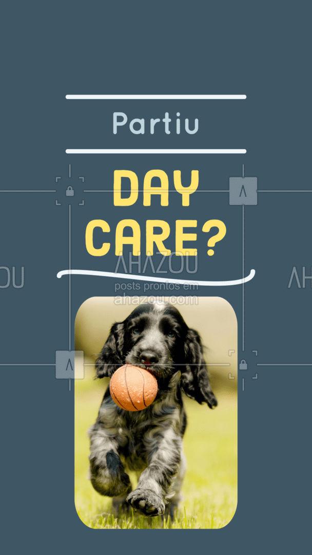 Bora trazer seu amigo para um dia inesquecível de muita brincadeira e cuidados especiais? Então não perca tempo, entre em contato 📞 (inserir número) e agende um horário! #dogdaycare  #AhazouPet #daycarepet #cuidados #crechepet   #dogsofinstagram