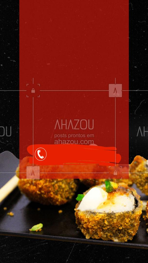 A fome bateu? Aproveite e faça seu pedido! Peça pelo delivery ? #ahazoutaste  #japa #sushidelivery #comidajaponesa #sushilovers #sushitime #japanesefood #pedido #hotroll #delivery #entrega #online