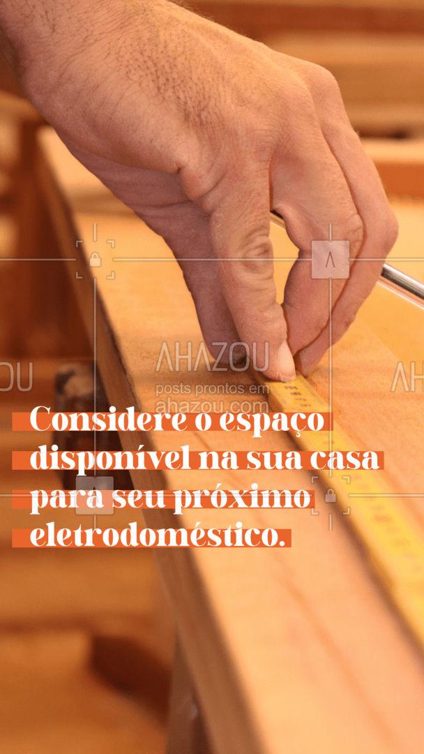 Já sabe qual próximo eletrodoméstico vai comprar? Fique atenta as dimensões do eletrodoméstico, para ter certeza que cabe no espaço disponível que você tem e boas compras. #Dicas #AhazouTec #Eletrodoméstico