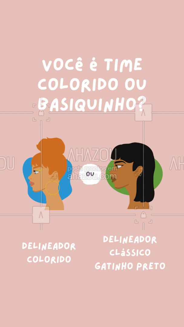 Os delineador deferentões coloridos estão super em alta, você já aderiu a eles ou ainda prefere o clássico??  #AhazouBeauty  #makeup #makeoftheday #maquiagem #delineador #enquete #preferencia #delineadocolorido #gatinho