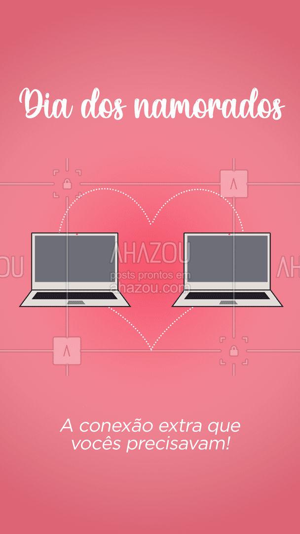 O melhor dessa conexão extra é que dá pra jogar um joguinho junto! ?? #AhazouTec #diadosnamorados #love #conexao #celular  #tecnologia  #eletrônicos  #computador #amor