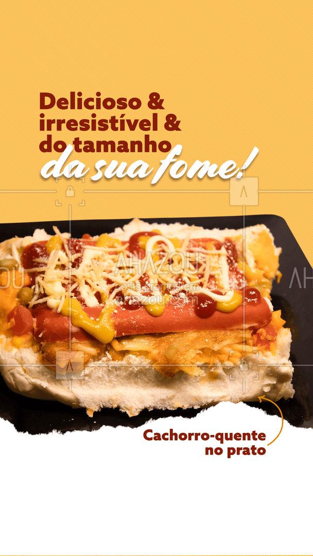 O cachorro-quente ideal para você está aqui e ele vem no prato! 🤩🌭 #ahazoutaste #hotdog  #hotdoglovers  #hotdoggourmet  #cachorroquente