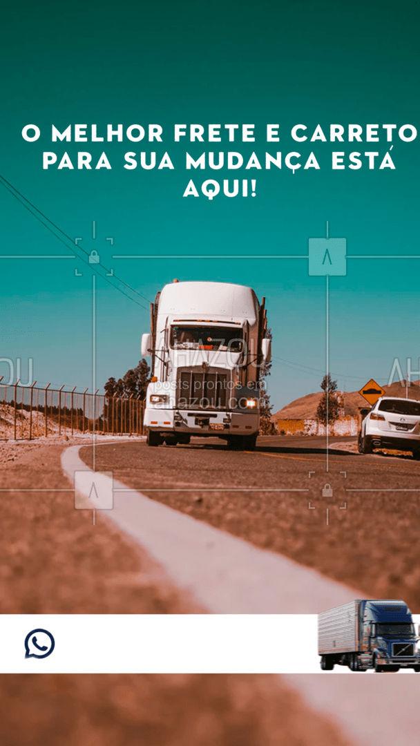 Aqui você vai ficar sossegado sabendo que seus pertences estão e segurança, com o melhor frete e carreto! Entre em contato! #frete #carreo #carga #descrga #AhazouServiços Entrega #transporte #mudança