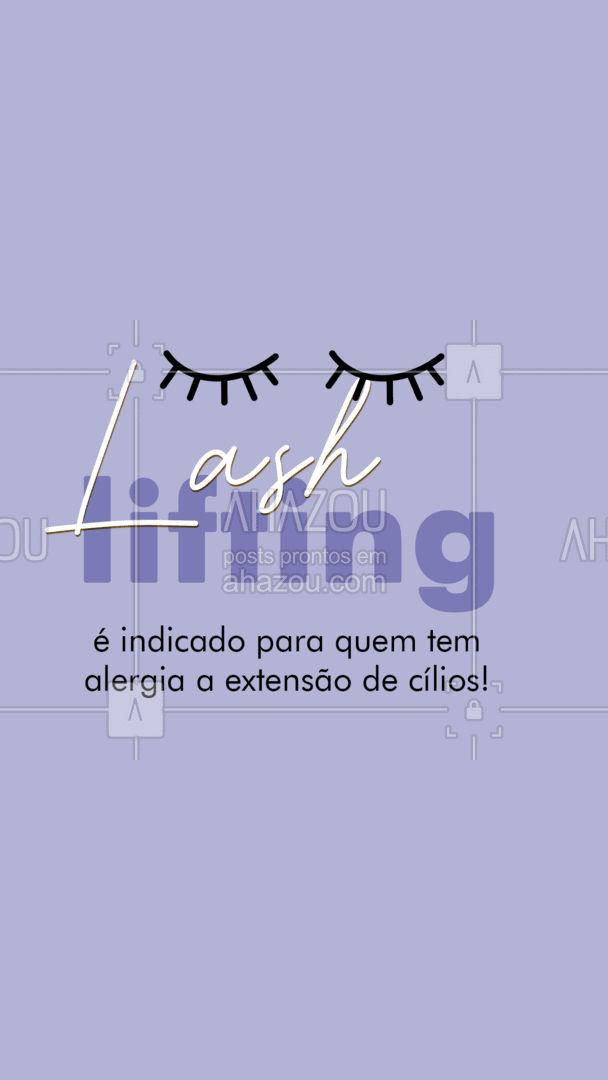 A técnica lash lifting é totalmente liberada para quem tem alergia a extensão de cílios, pois utiliza apenas os fios naturais para realçar o olhar. #lashlifting #AhazouBeauty #cílios #lashes #beauty