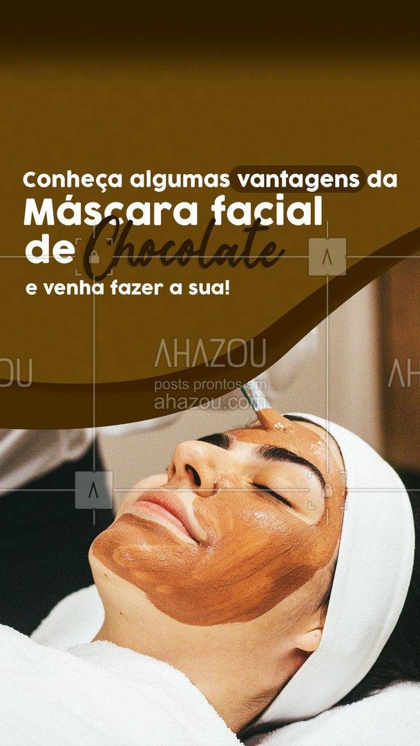 A máscara facial de chocolate tonifica e hidrata a sua pele, além de estimular a produção de colágeno e muitas outras vantagens! Venha conhecer esse tratamento! Você vai adorar!  ??♀️ #AhazouBeauty #pele #tratamento #chocolate #cholateFacial #mascara #mascaradeChocolate #mascaraFacialChocolate #colageno #pele #retardardadorDeEnvelhecimento #esteticafacial #skincare #limpezadepele