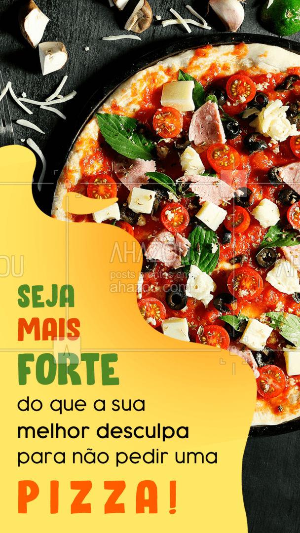 Nós acreditamos em você! ??? Vamos de qual sabor de pizza hoje? ?? #Pizza #Pizzaria #ahazoutaste #pizzalife #pizzalovers #ahazoutaste