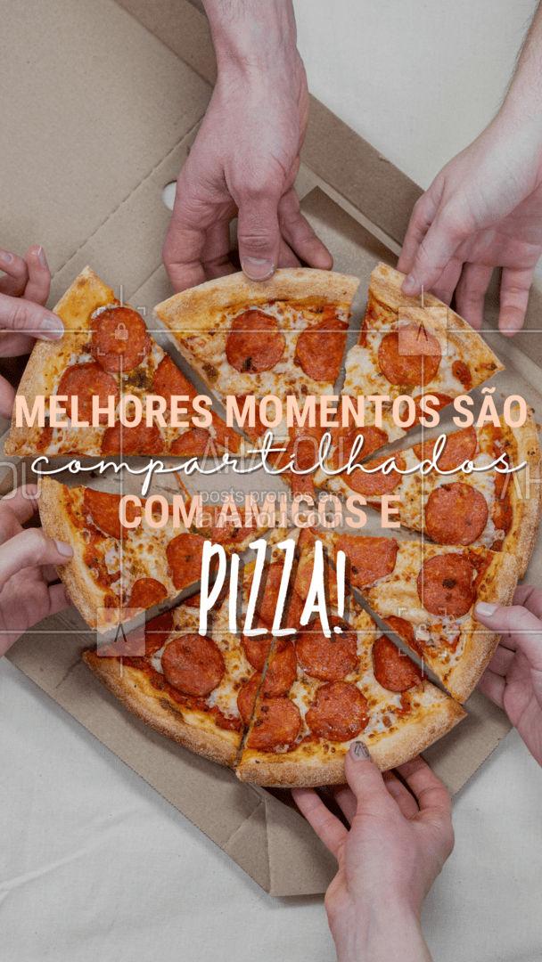 O dia sempre acaba melhor quando termina em pizza! #ahazoutaste  #comidaitaliana #pizzalovers #pizzaaddiction