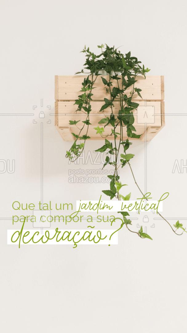 Nessa Primavera, uma alternativa interessante de decoração pode ser um jardim vertical. Você pode cultivar diversas espécies mesmo com pouco espaço. Talvez até uma mini horta pode ser uma excelente ideia. #Primavera #AhazouDecora, #AhazouArquitetura #Decoração