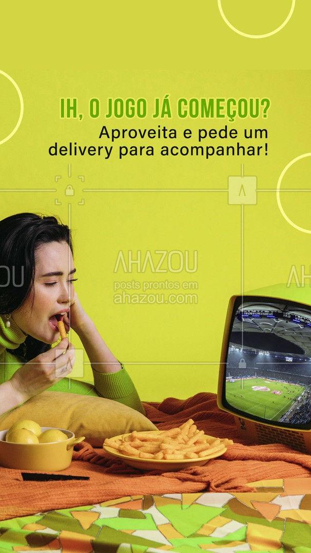 Dia de jogo pede um delivery, faça já o seu pedido! 😋 #delivery #jogo #jogodefutebol #ahazoutaste  #gastronomia  #culinaria