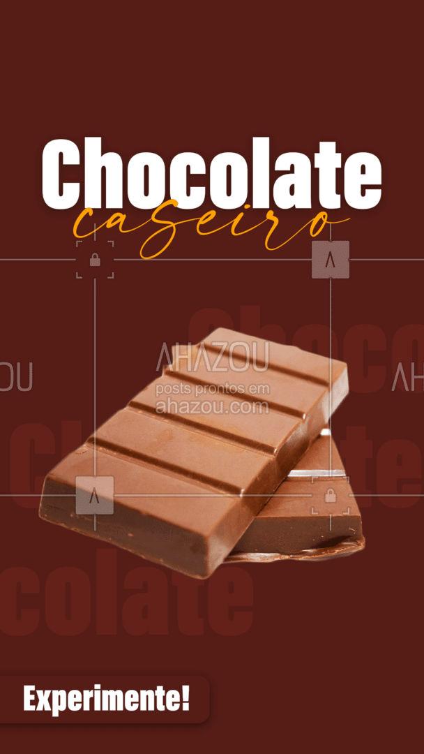Aos chocólatras online: Experimente nosso chocolate caseiro! É um encanto, peça já! #ahazoutaste #chocolate #chocolatecaseiro #chocolateartesanal #doce  #confeitaria
