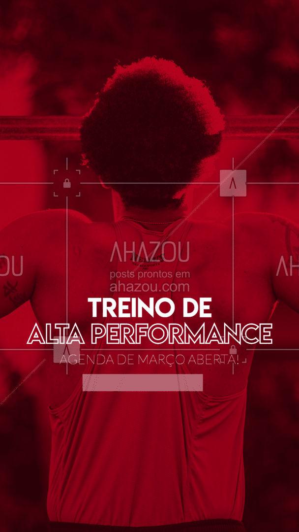 Confira os treinos de alta performance e confie que eles podem mudar a sua vida a partir de março. Agende o seu horário! #Agenda #AhazouSaude #editaveisahz #PersonalTrainer