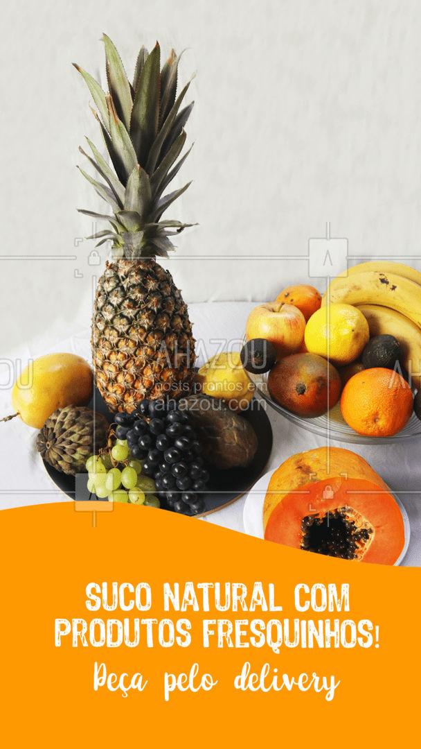 Suco de polpa? Jamais! Nossos sucos são feitos com produtos frescos e selecionados! Peça já o seu! #ahazoutaste  #hortifruti #organic #qualidade #alimentacaosaudavel #vidasaudavel #mercearia #frutas #delivery #suconatural