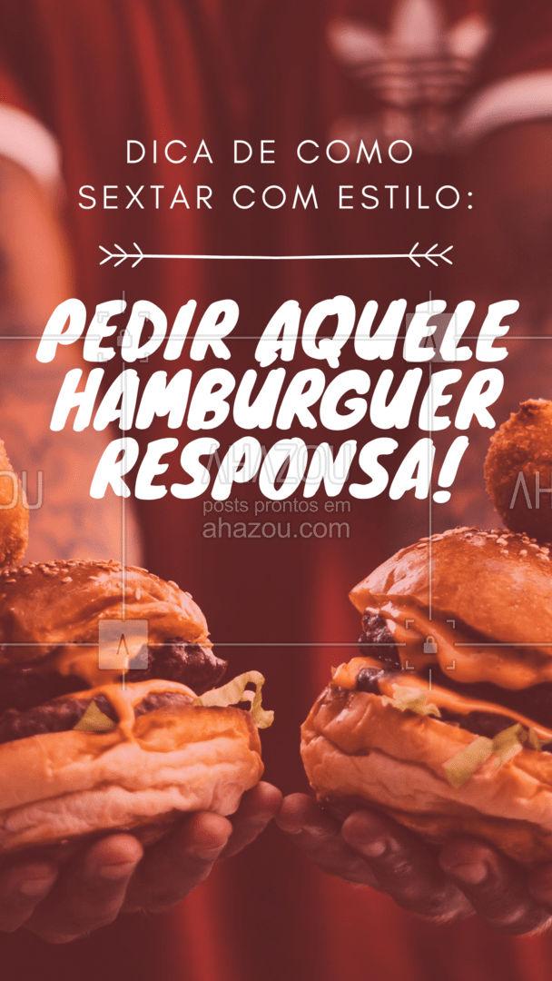 Bora sextar daquele jeito? ?? #ahazoutaste #hamburguer #artesanal #hamburgueria #burgerlovers #burger  #hamburgueriaartesanal #lanches #amohamburguer