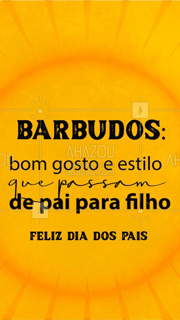 Desejamos feliz dia dos pais aos que nos passaram esse bom gosto que é ter uma barba de respeito! ? #DiadosPais #FrasesBarba #AhazouBeauty  #barbearia #barberLife