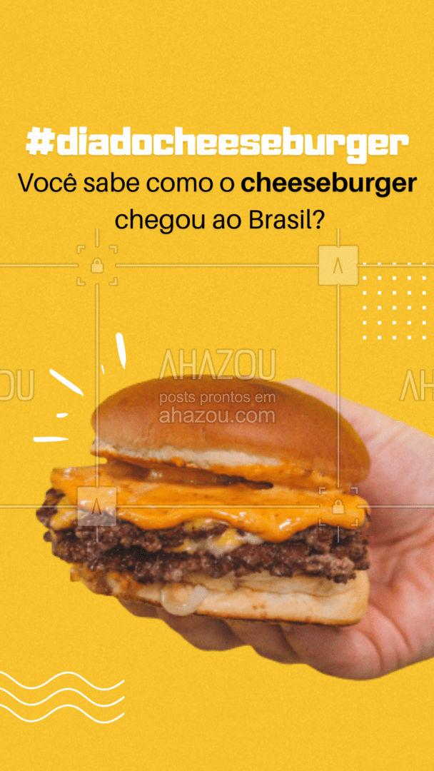 Ele chegou ao Brasil nos anos 50, quando o tenista Robert Falkenburg trouxe uma famosa franquia para Rio de Janeiro. E pode-se dizer que os brasileiros amam tanto esse lanche que é um dos países que mais consomem.❤️ #ahazoutaste #hamburgueriaartesanal #hamburgueria #burgerlovers #burger #artesanal #curiosidade #dicas #diadocheesebuger