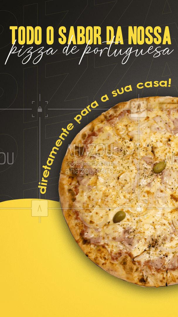 Não dá para resistir a essa delicia, não é mesmo? Então peça já a sua! Aproveite e peça já a sua! #pizzaria #pizza #pizzalife #ahazoutaste #pizzalovers #sabores #pizzadeportuguesa #portuguesa #ahazoutaste