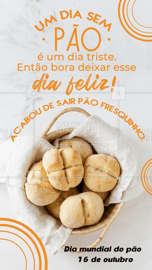 Qual a hora do dia que você come o seu pão?🥖🥯🥨🥐🍞 Eu comeria em todas as refeições. 😋 #ahazoutaste #pão #diadopão  #pãoquentinho  #padaria  #panificadora  #bakery #motivacional #frase