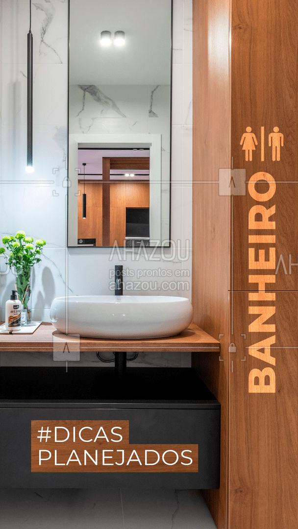 Já pensou ter um banheiro dos sonhos, não importando a metragem que ele tem? (Ah, mas o banheiro é pequeno e não dá pra fazer muita coisa. ) Ops, vamos mudar esse pensamento? Com um bom planejamento de armários e otimização de espaço, podemos te entregar um lindo e decorado banheiro dos sonhos. Podemos te ajudar agora! #banheiroplanejado #AhazouPlanejados  #moveissobmedida #casaplanejada #moveisplanejados