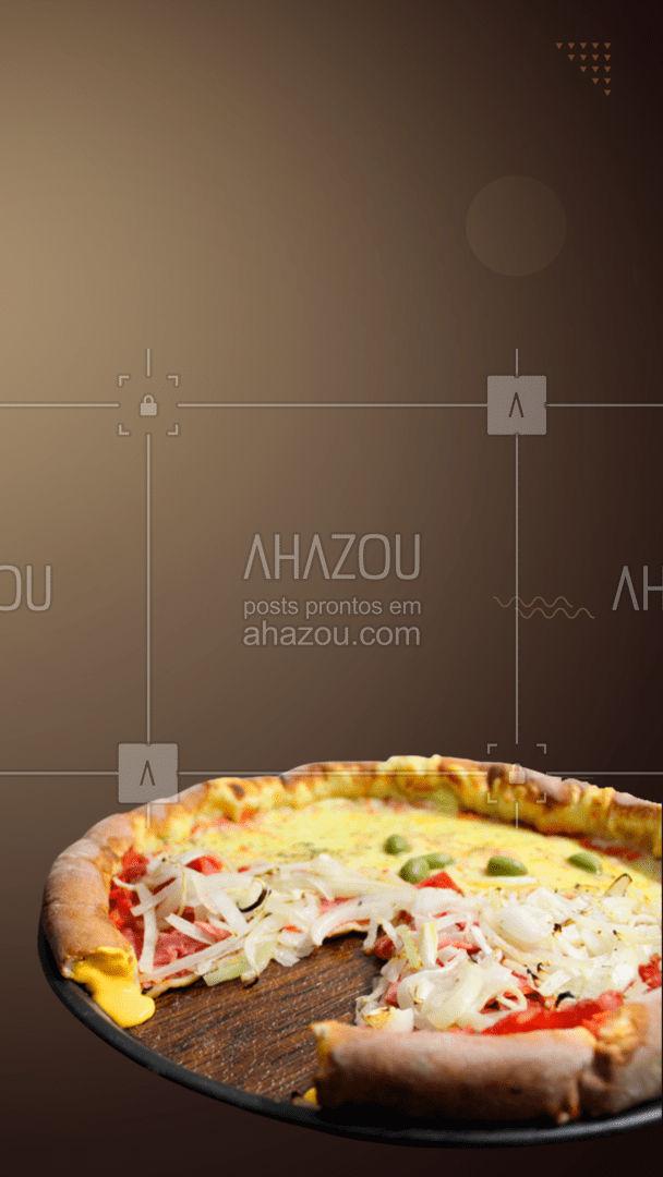 Cada pedaço vai deixar o seu dia melhor. Agora é só escolher o sabor. ? #editaveisahz #ahazoutaste  #pizza #bomdia