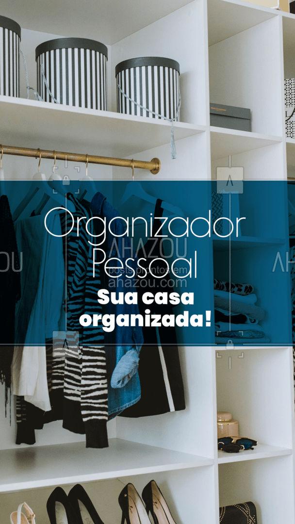 Sua casa toda organizada de maneira mais prática, entre em contato! #AhazouServiços #personalorganizer #servicos #organizacao