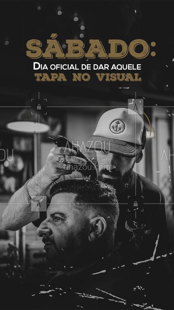Sabadou e hoje é o dia oficial de bater o ponto aqui na barber para dar aquele tapa no visual! Vem pra cá! 💈  O que não falta é conversa boa e cerveja gelada! 🍺 #barber #AhazouBeauty  #barberLife  #barbeirosbrasil  #barbeiro  #barberShop  #barbearia  #barba