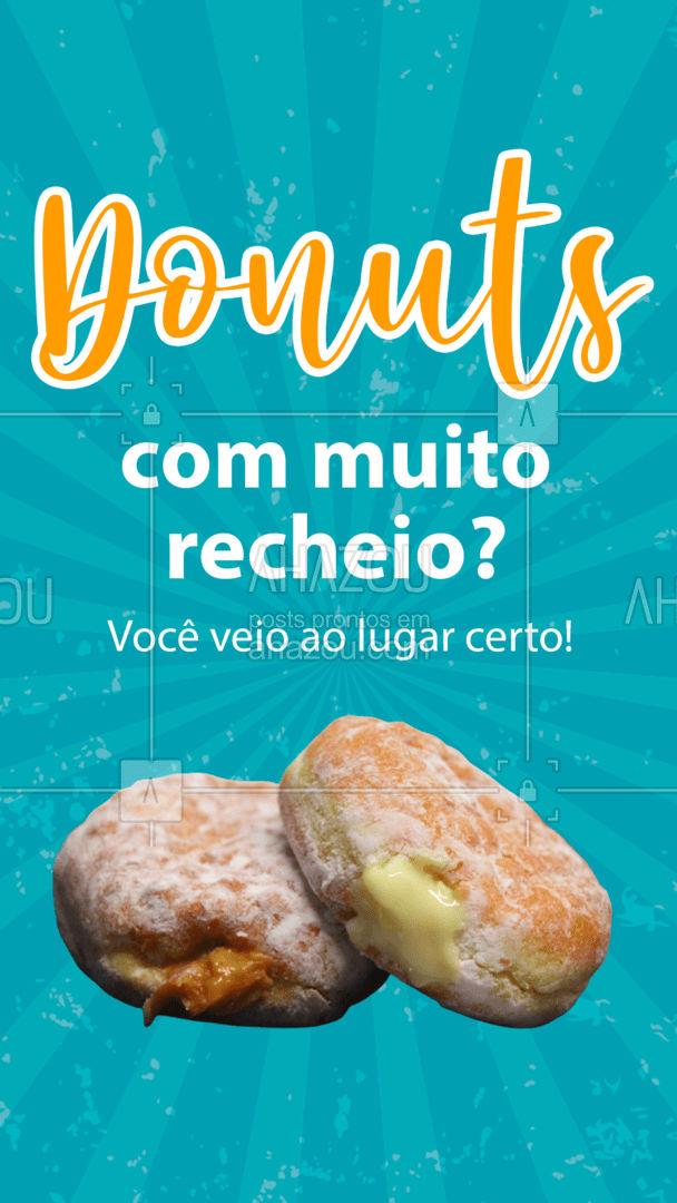Aqui os nossos donuts não tem limite de recheio ? cada sabor é uma explosão de delicias na sua boca, chama os amigos e vem! ? #ahazoutaste #confeitaria #doces #donuts #recheio