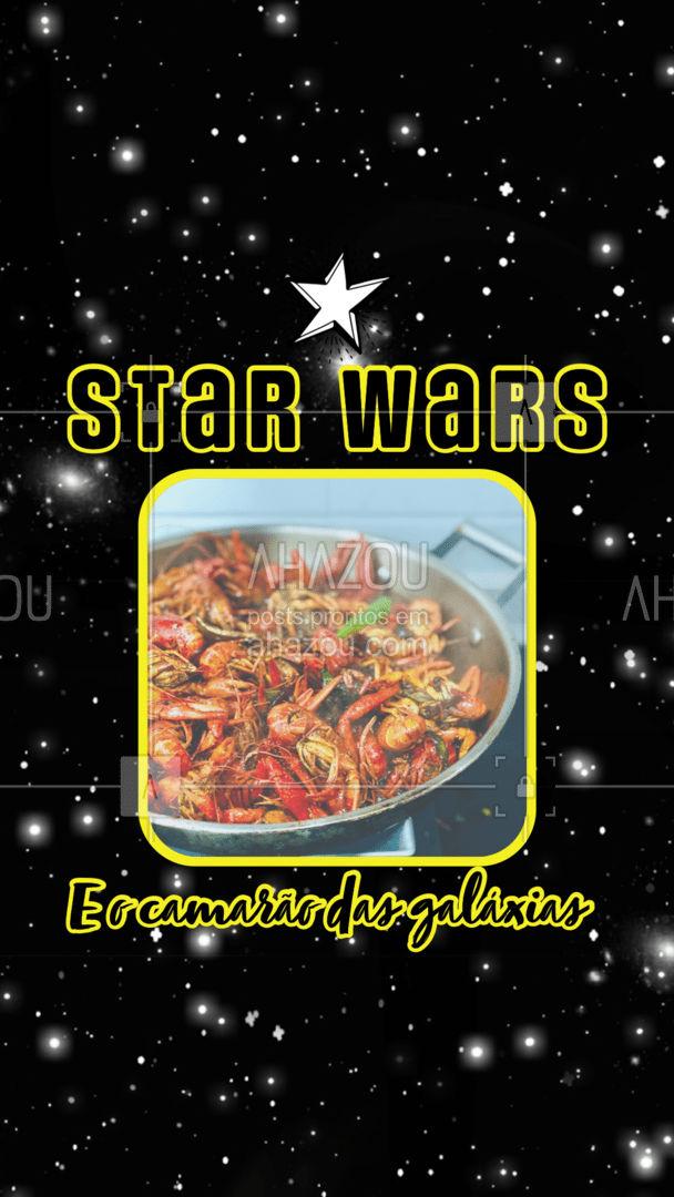 Que tal comemorar o Dia de Star Wars com Um camarãozinho delicioso? Entre em contato e faça já o seu pedido! #foodlovers #delivery #camarao #ahazoutaste #peixes #pescados #instafood #frutosdomar #starwars #diadestarwars