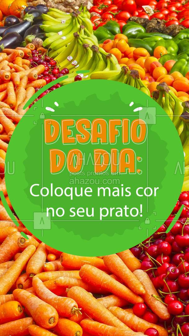 Quando falamos de alimentação, quanto mais cor tiver no seu prato, melhor! Isso significa que você está comendo de tudo e nutrindo o seu corpo da maneira correta! ? #Hortifruti #Qualidade #ahazoutaste #vidasaudavel #alimentacaosaudavel #ahazoutaste