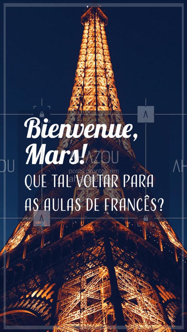 Comece o mês em grande estilo: investindo em você e no seu futuro profissional! As aulas de francês estão te esperando, marque seu horário.  #AhazouEdu  #aulasdefrances #aulaparticular #aulaemgrupo
