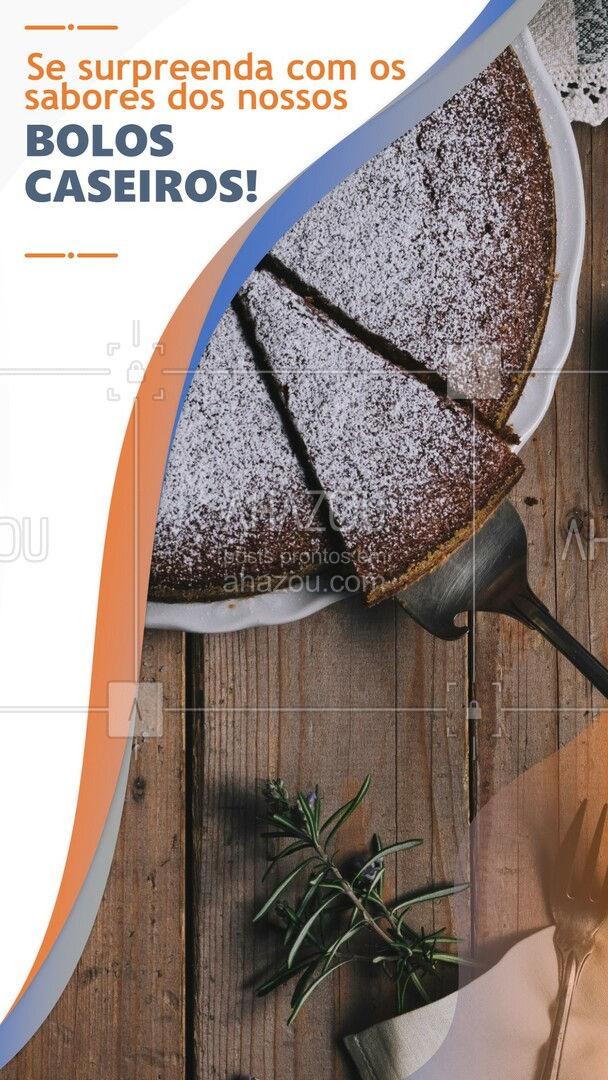 Se você gosta de bolo caseiro, precisa experimentar os nossos! Qualidade e sabores incomparáveis! #ahazoutaste #bolo #bolocaseiro #padariaartesanal #panificadora #padaria