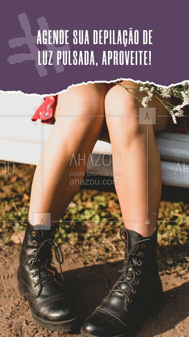 Aproveite hoje mesmo para agendar sua próxima depilação. 🦵💛 #AhazouBeauty #bemestar #depilacao #beleza #depilacaoluzpulsada #luzpulsada
