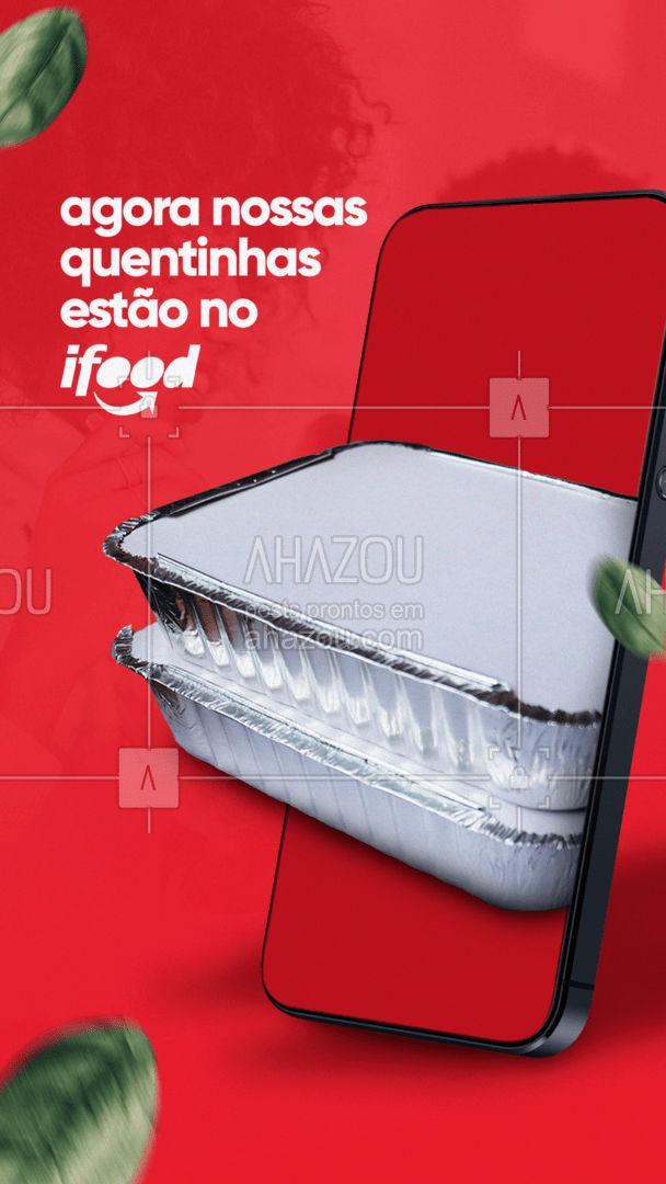 O delivery chegou por aqui! Faça seu pedido pelo app e delicie-se com nossas quentinhas. ? #ahazoutaste #marmitando  #comidacaseira  #comidadeverdade #delivery #ifood