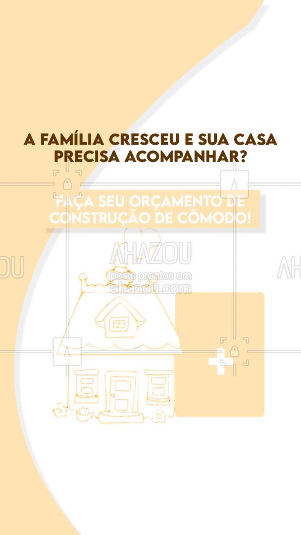 É só entrar em contato e me contar um pouco mais sobre o projeto! #AhazouServiços #pedreiro #comodo #projetodecasa