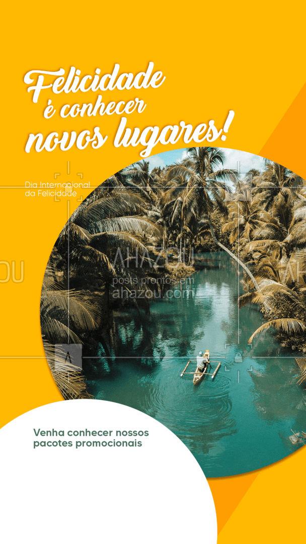 Venha até a nossa agência e confira nossos pacotes promocionais! Afinal, felicidade é conhecer novos lugares! ✈ #viagem #DiaInternacionalDaFelicidade #trip #AhazouTravel #viagempelobrasil #viajar #agentedeviagens #agenciadeviagens #AhazouTravel