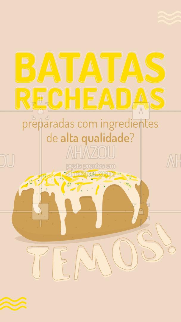 Está esperando o quê para experimentar nossas batatas recheadas? ?❤️  #AhazouTaste #Gastronomia #BatataRecheada #Restaurante