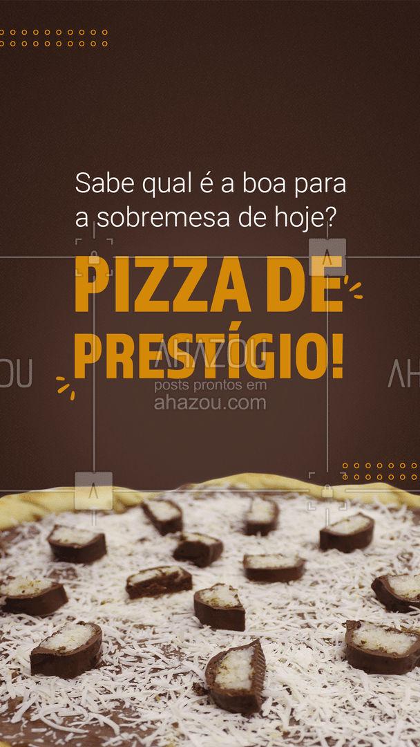 É praticamente impossível resistir uma pizza de prestígio dessa! Então não perca tempo e peça já a sua! ??#pizza #pizzadoce #ahazoutaste #pizzadeprestígio #pizzalovers #doce #pizzaria #pizzalife